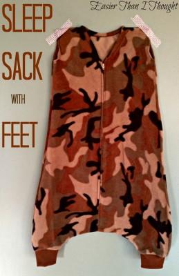 Featured Fleece Sleep Sack With Feet Holes Sewtorial