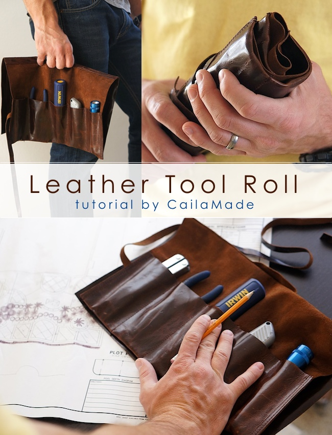 leather tool roll tutorial sewtorial