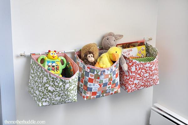 Hanging Fabric Storage Baskets Sewtorial