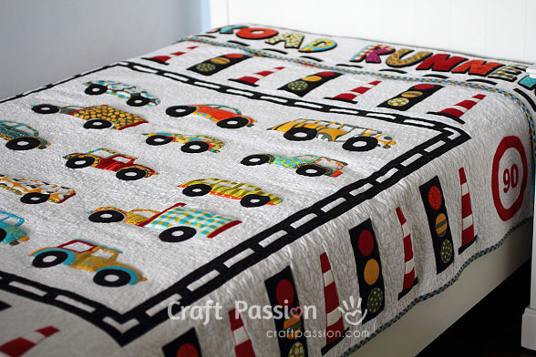Fabric Roads For Toy Cars : Road runner blanket sewtorial