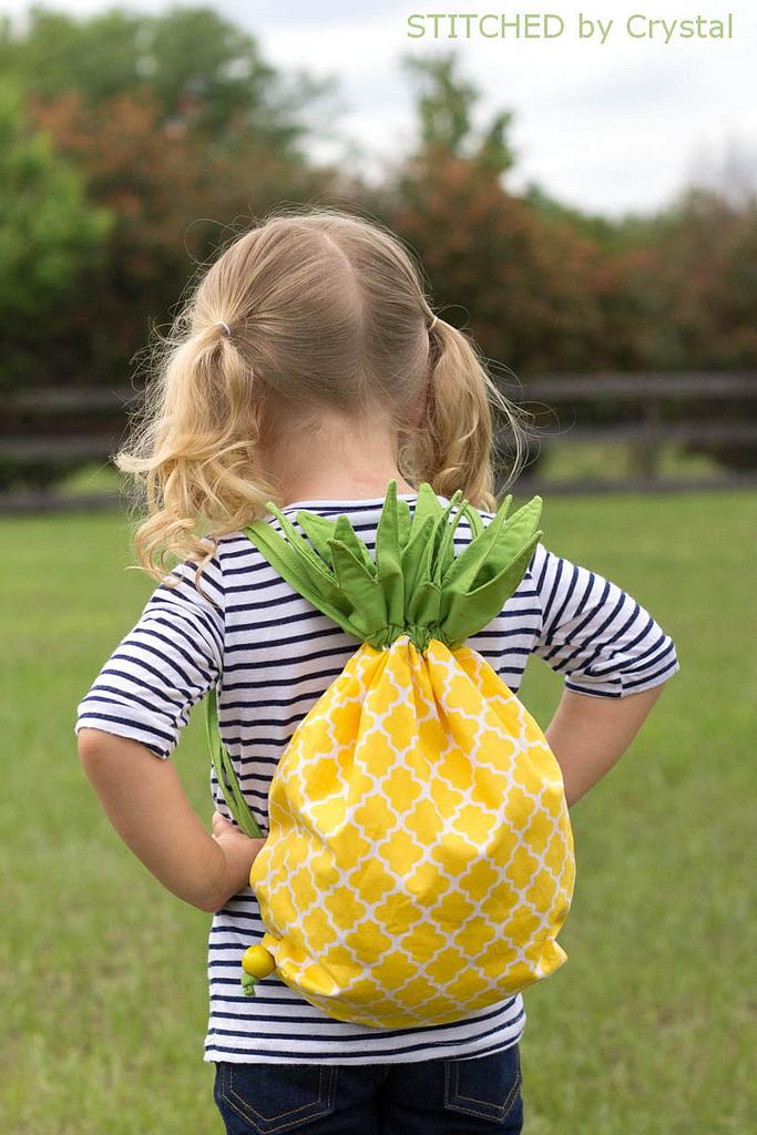 Pineapple Drawstring Backpack Sewtorial
