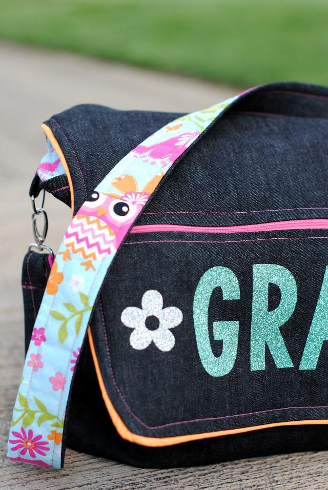 School Messenger Bag Tutorial - SEWTORIAL : quilted messenger bag pattern - Adamdwight.com