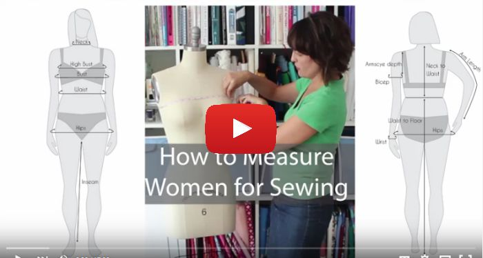 9208c6ebe22 How to Measure Women for Sewing (Video)