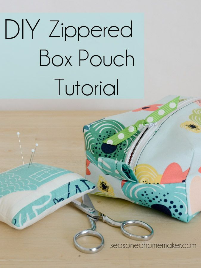 Zippered Box Pouch Tutorial Sewtorial